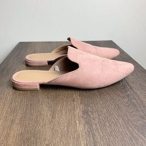 Pink A New Day Velma Slip On Pointy Toe Mules